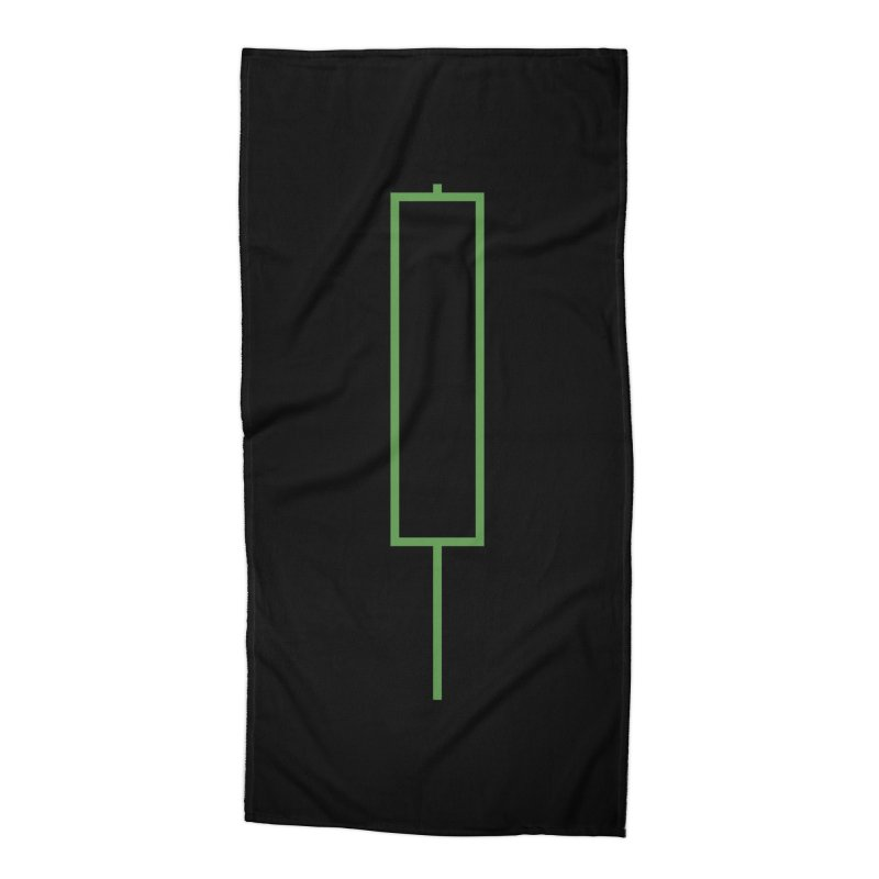 Crypto Green Candle Accessories Beach Towel by Animalanima Shop