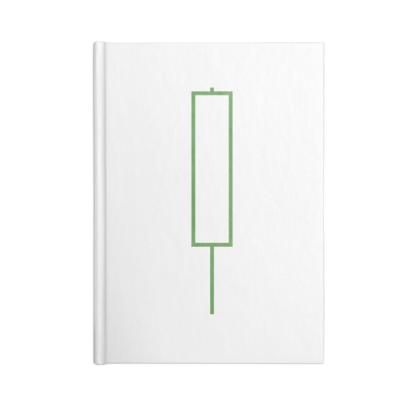 Crypto Green Candle Accessories Lined Journal Notebook by Animalanima Shop