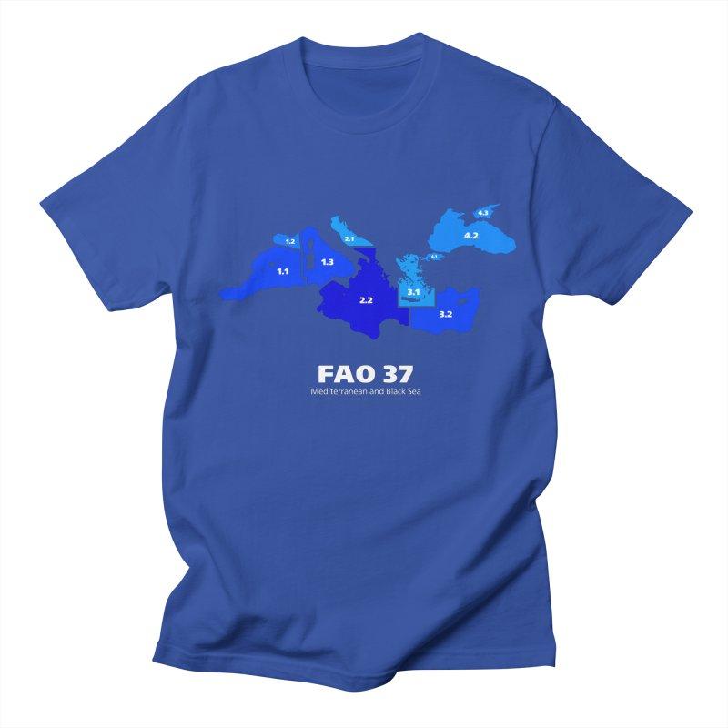 Mediterranean - FAO37 in Men's Regular T-Shirt Royal Blue by Animalanima Shop