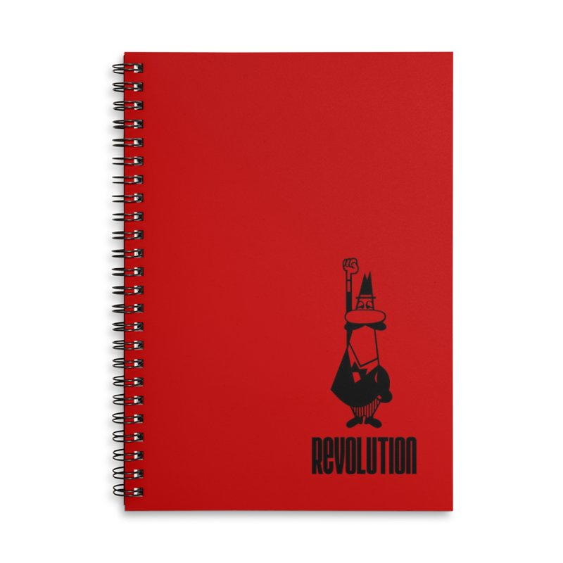 A revolution always starts with coffee Accessories Notebook by Animalanima