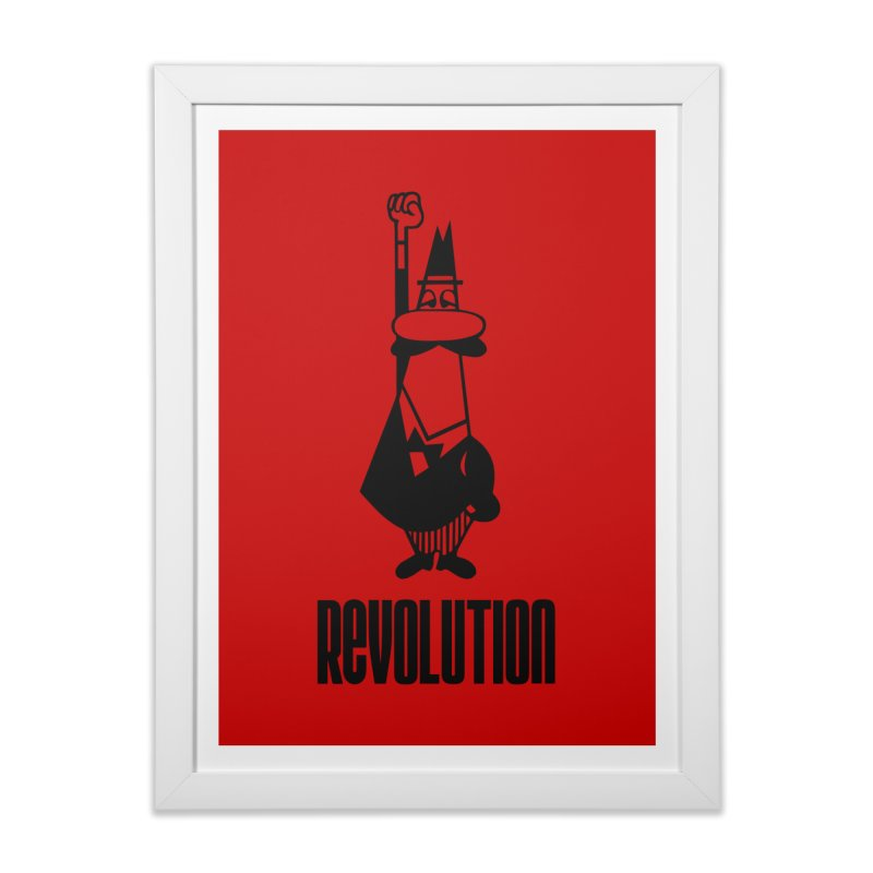 Revolutions always start with coffee Home Framed Fine Art Print by Animalanima Shop