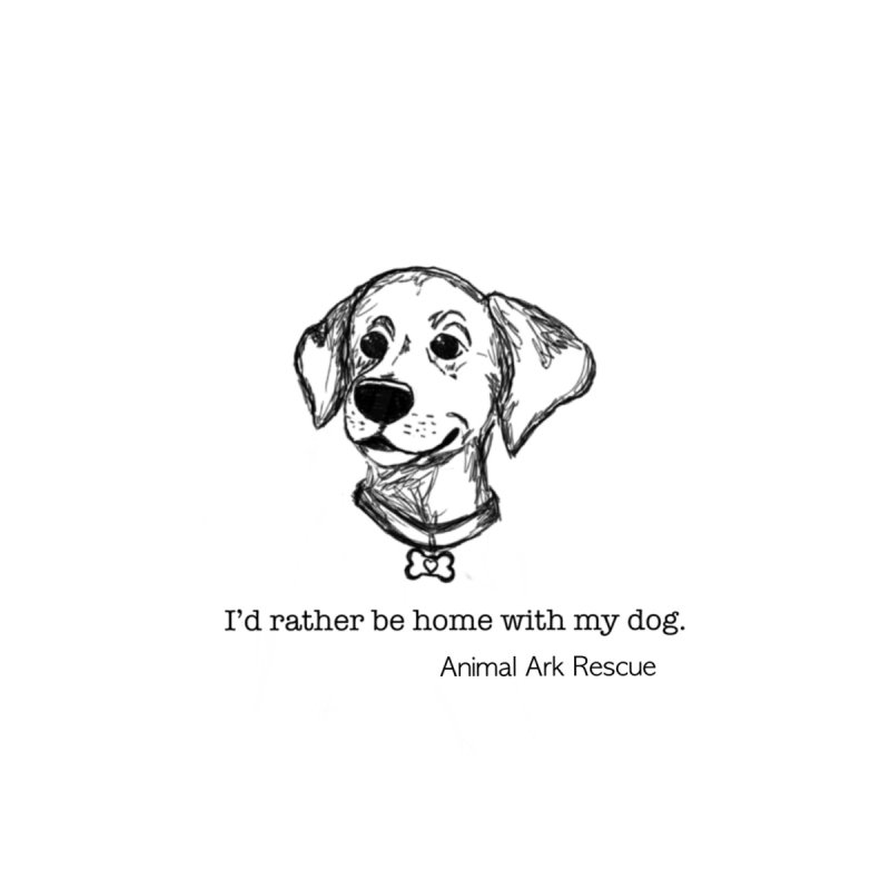 I'd Rather Be with My Dog Throw Pillow by animalarkrescue's Artist Shop