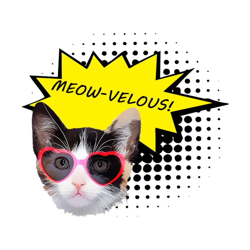 Meow-Velous Sticker by animalarkrescue's Artist Shop