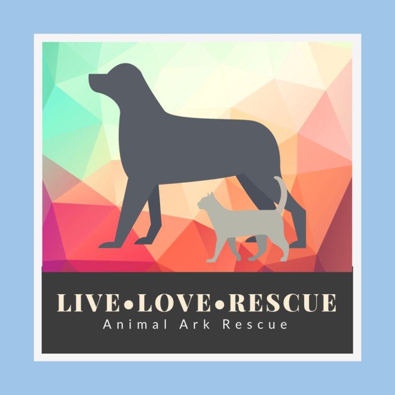 Live Love Rescue Colorful Geometric Shirt by animalarkrescue's Artist Shop