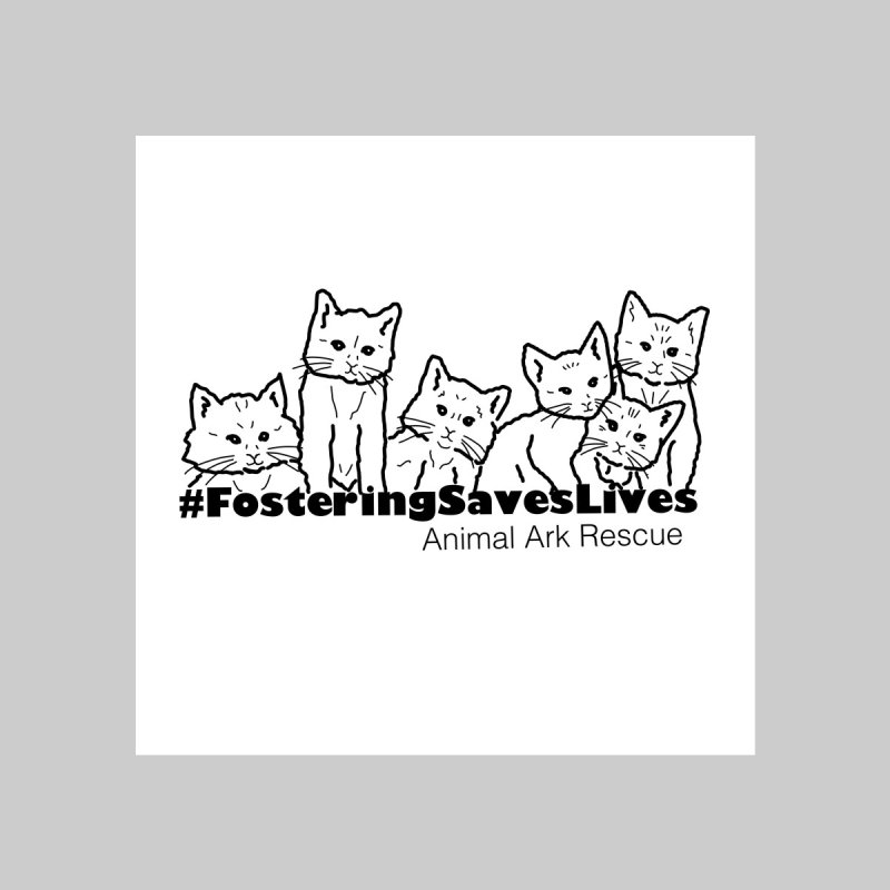 #FosteringSavesLives Tote by animalarkrescue's Artist Shop