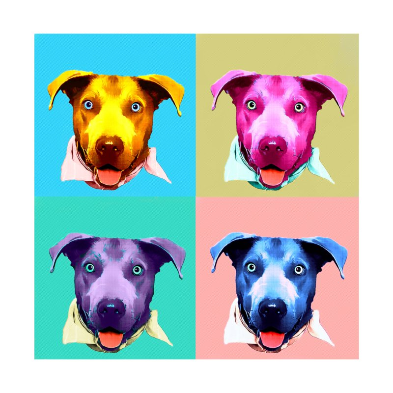 Pop Art Dog Shirt by animalarkrescue's Artist Shop