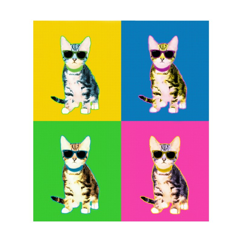 Cool Cat Pop Art Shirt by animalarkrescue's Artist Shop