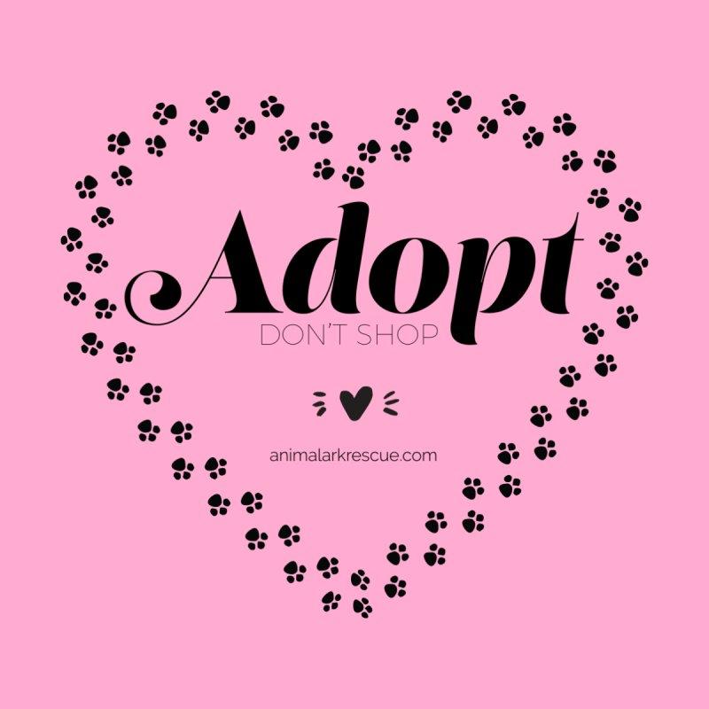 Adopt don't Shop Pawprints Heart Shirt by animalarkrescue's Artist Shop