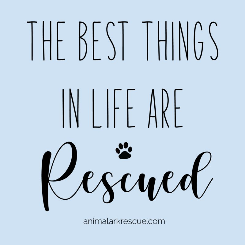 The Best things in Life Are Rescued Shirt by animalarkrescue's Artist Shop