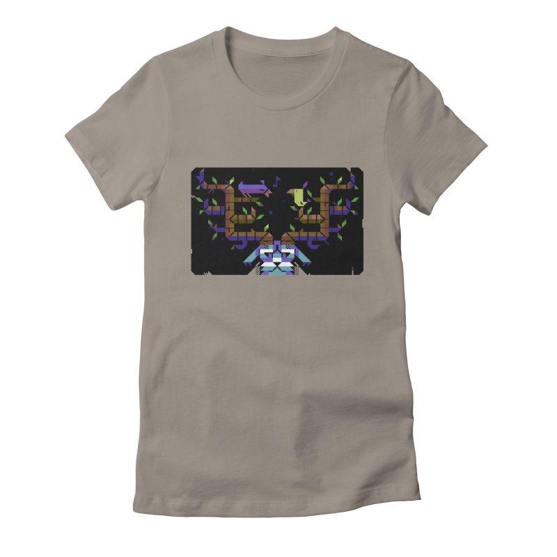 Bird Song Women's Fitted T-Shirt by AnimalBro's Artist Shop
