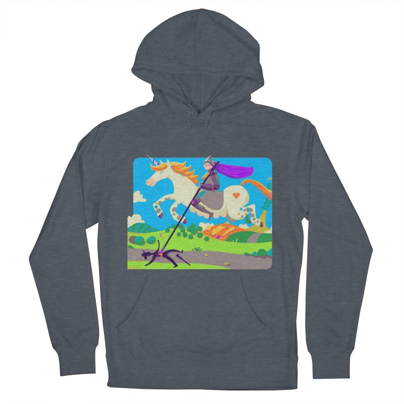 Hunters Will Be Hunted Men's French Terry Pullover Hoody by AnimalBro's Artist Shop