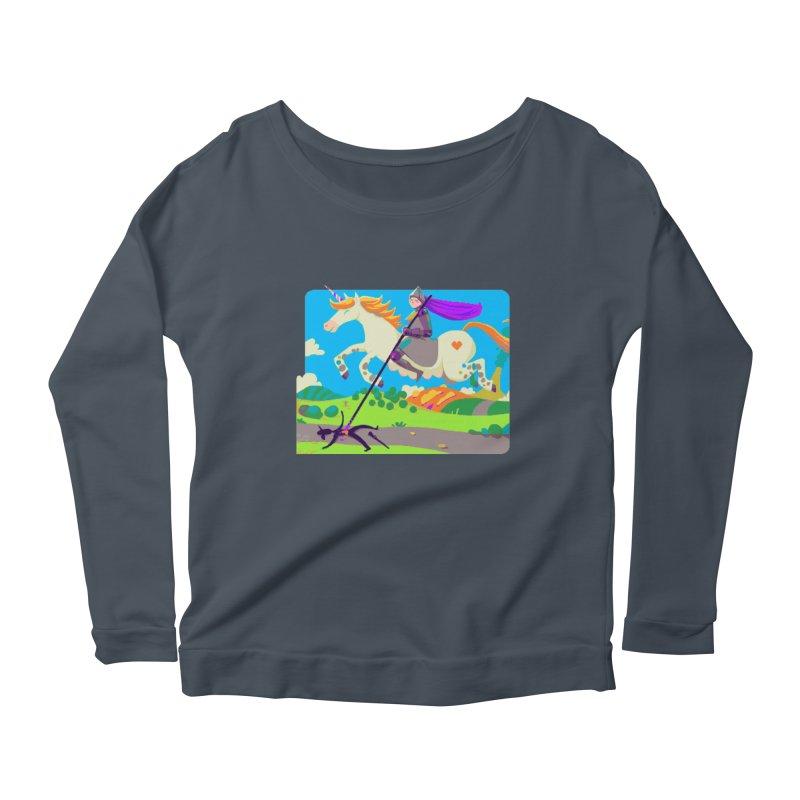 Hunters Will Be Hunted Women's Scoop Neck Longsleeve T-Shirt by AnimalBro's Artist Shop