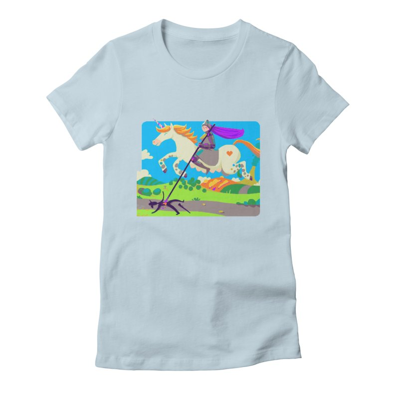 Hunters Will Be Hunted Women's Fitted T-Shirt by AnimalBro's Artist Shop