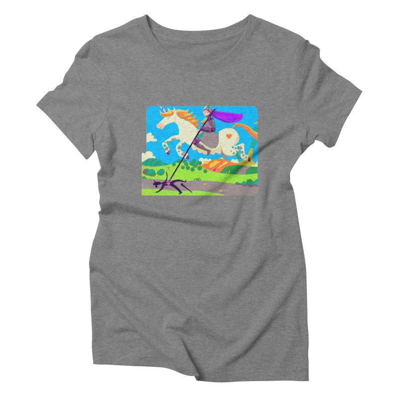 Hunters Will Be Hunted Women's Triblend T-Shirt by AnimalBro's Artist Shop