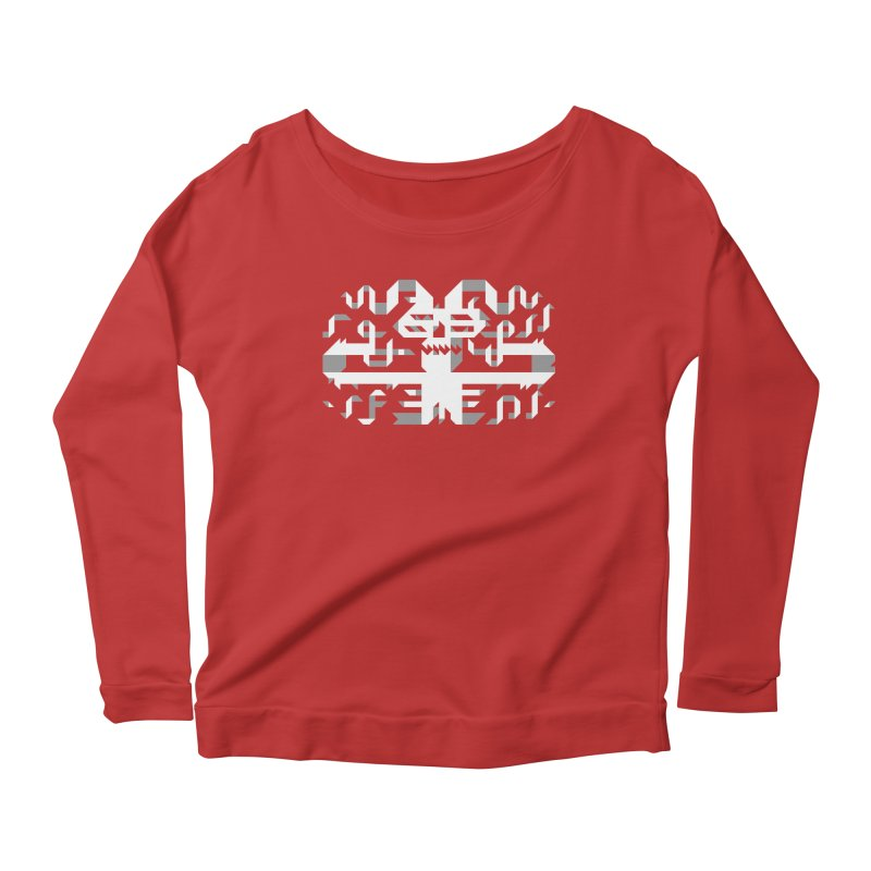 Papercut Women's Scoop Neck Longsleeve T-Shirt by AnimalBro's Artist Shop