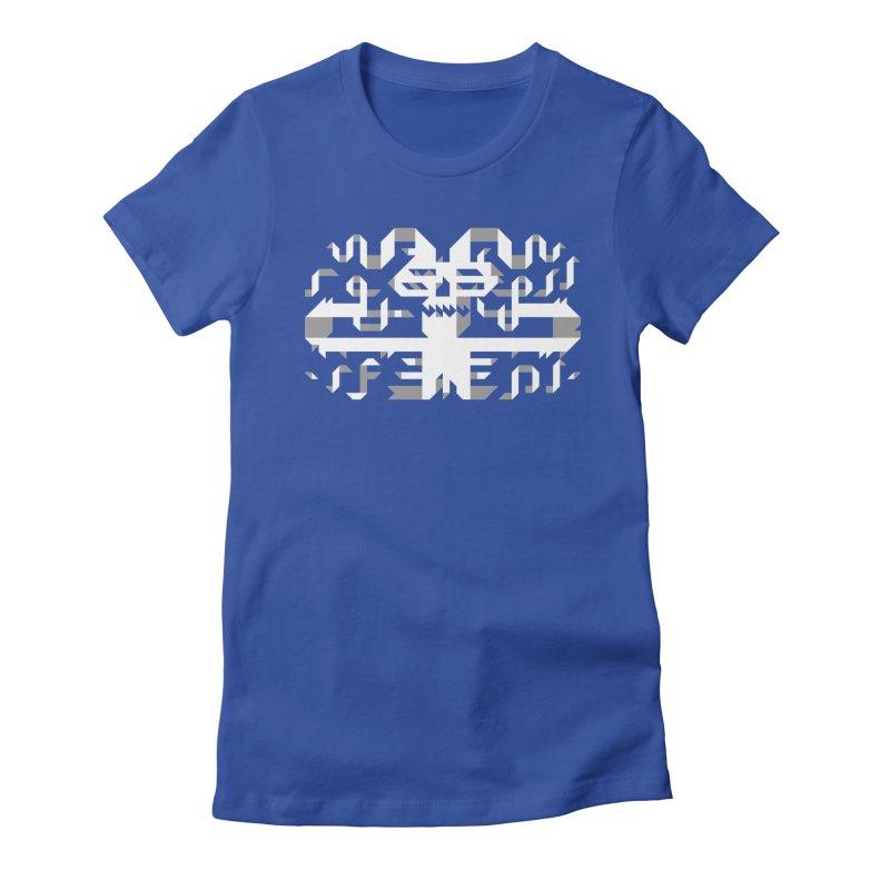 Papercut Women's Fitted T-Shirt by AnimalBro's Artist Shop