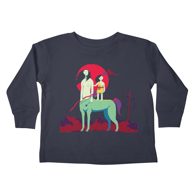 Amazonomachy Kids Toddler Longsleeve T-Shirt by AnimalBro's Artist Shop