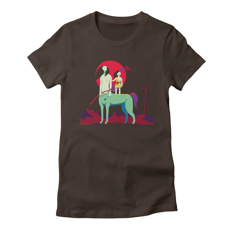 Amazonomachy Women's Fitted T-Shirt by AnimalBro's Artist Shop