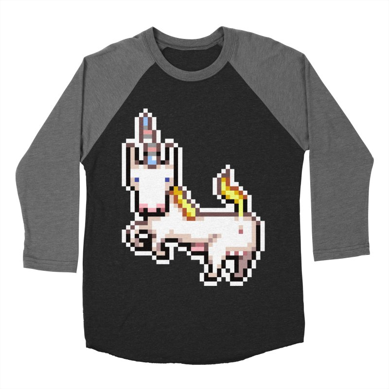 Proud Pony Men's Baseball Triblend Longsleeve T-Shirt by AnimalBro's Artist Shop