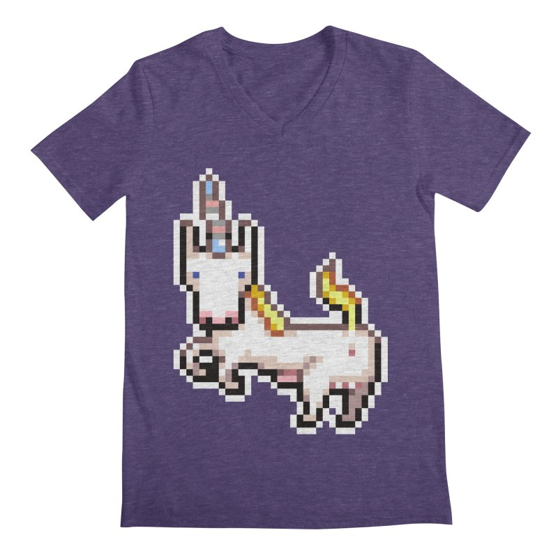 Proud Pony Men's V-Neck by AnimalBro's Artist Shop