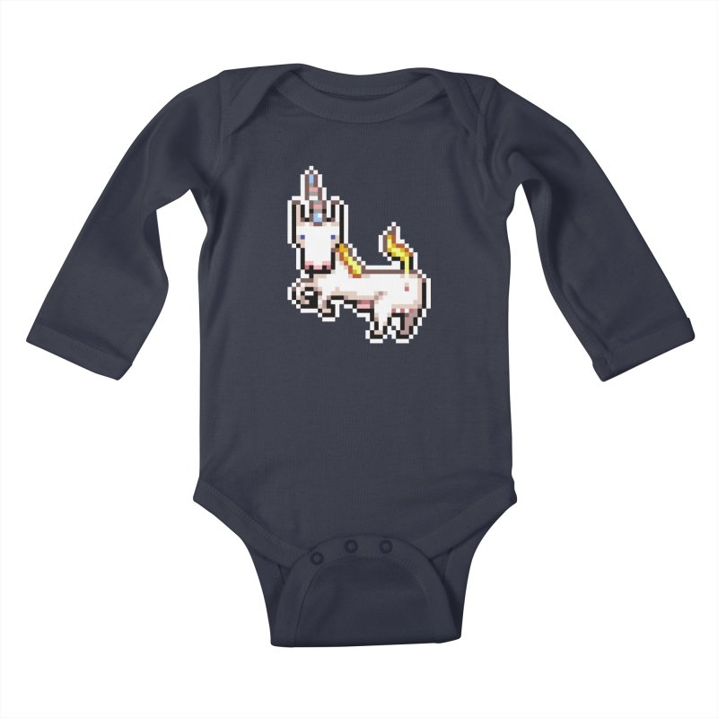 Proud Pony Kids Baby Longsleeve Bodysuit by AnimalBro's Artist Shop