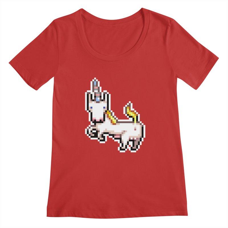 Proud Pony Women's Regular Scoop Neck by AnimalBro's Artist Shop