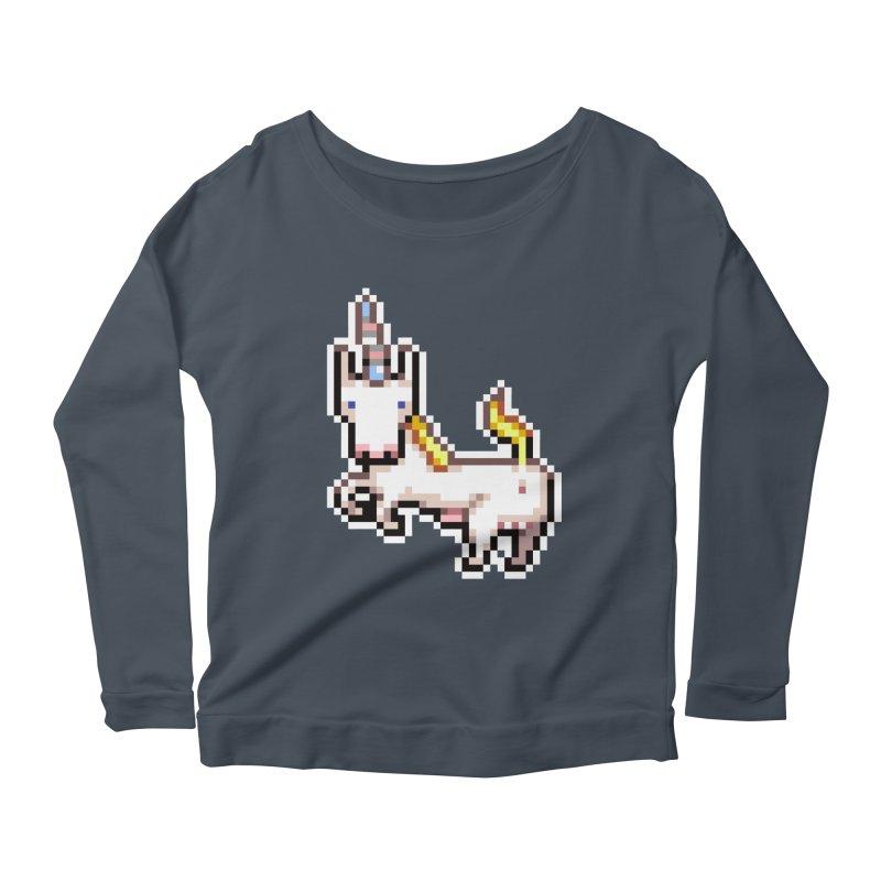 Proud Pony Women's Scoop Neck Longsleeve T-Shirt by AnimalBro's Artist Shop