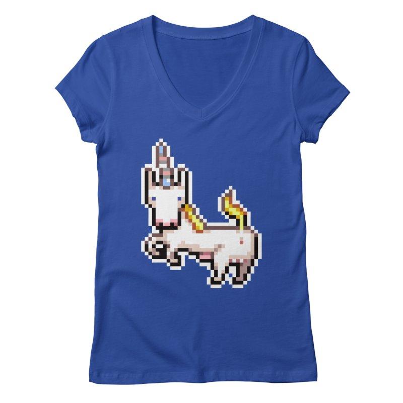 Proud Pony Women's Regular V-Neck by AnimalBro's Artist Shop