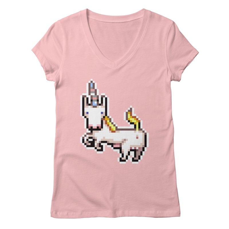 Proud Pony Women's V-Neck by AnimalBro's Artist Shop