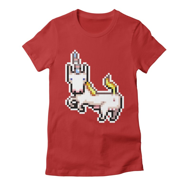 Proud Pony Women's Fitted T-Shirt by AnimalBro's Artist Shop