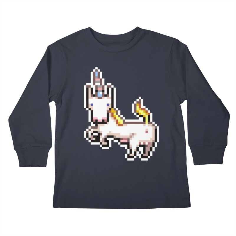 Proud Pony Kids Longsleeve T-Shirt by AnimalBro's Artist Shop