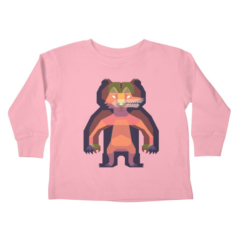 Shapeshifter Kids Toddler Longsleeve T-Shirt by AnimalBro's Artist Shop