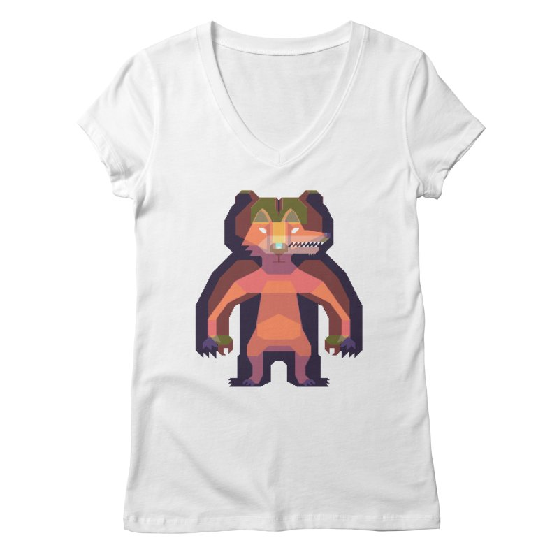 Shapeshifter Women's V-Neck by AnimalBro's Artist Shop