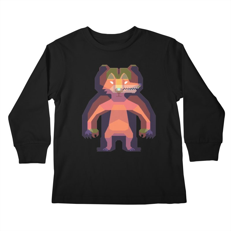 Shapeshifter Kids Longsleeve T-Shirt by AnimalBro's Artist Shop