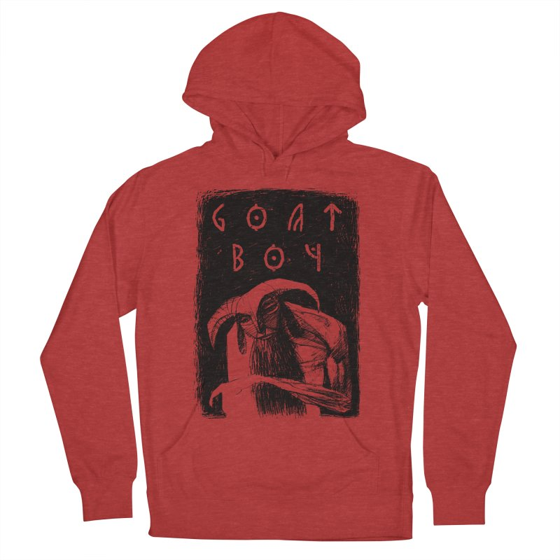 Goat Boy Women's French Terry Pullover Hoody by AnimalBro's Artist Shop