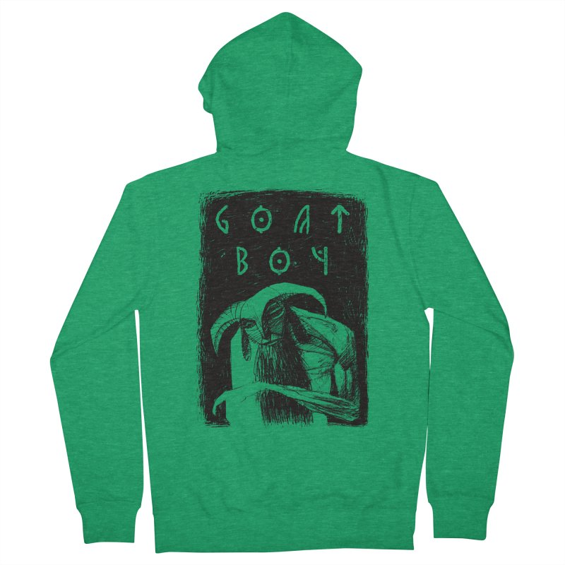 Goat Boy Men's Zip-Up Hoody by AnimalBro's Artist Shop