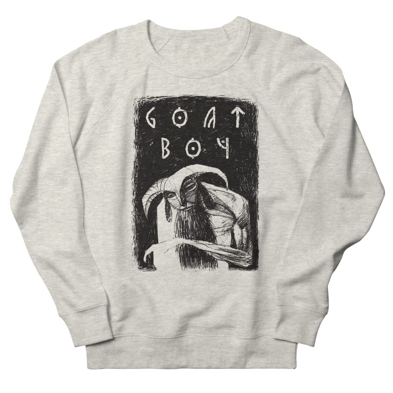 Goat Boy Men's French Terry Sweatshirt by AnimalBro's Artist Shop