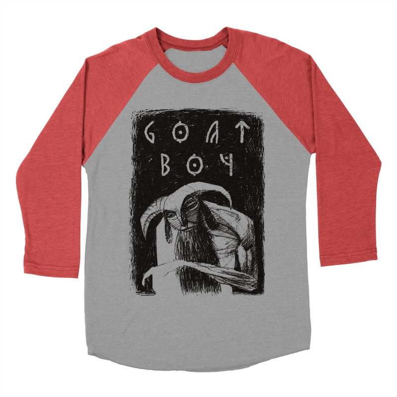 Goat Boy Women's Baseball Triblend T-Shirt by AnimalBro's Artist Shop