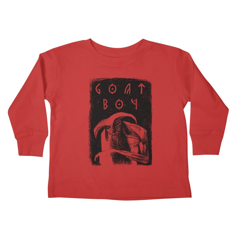 Goat Boy Kids Toddler Longsleeve T-Shirt by AnimalBro's Artist Shop