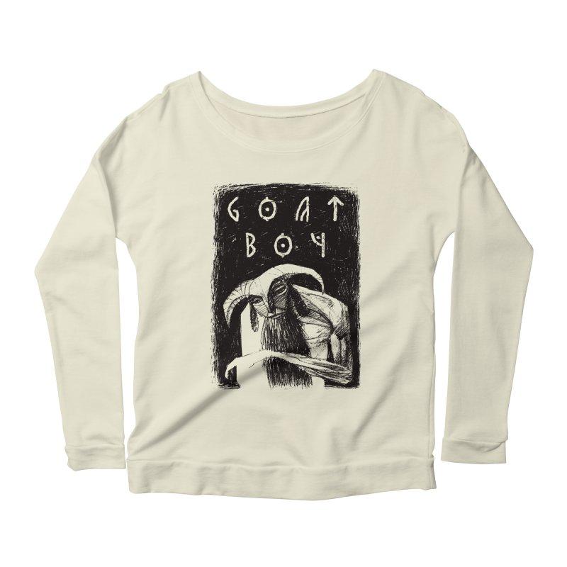 Goat Boy Women's Longsleeve Scoopneck  by AnimalBro's Artist Shop
