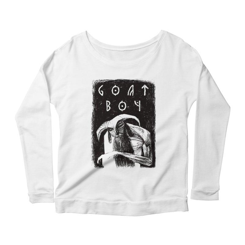 Goat Boy Women's Scoop Neck Longsleeve T-Shirt by AnimalBro's Artist Shop