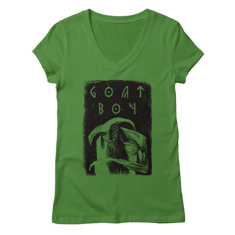 Goat Boy Women's Regular V-Neck by AnimalBro's Artist Shop
