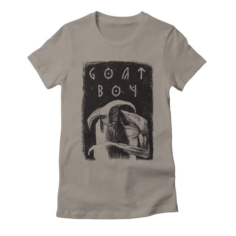 Goat Boy Women's Fitted T-Shirt by AnimalBro's Artist Shop