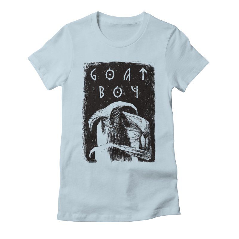 Goat Boy Women's Fitted T-Shirt by AnimalBro's Artist Shop