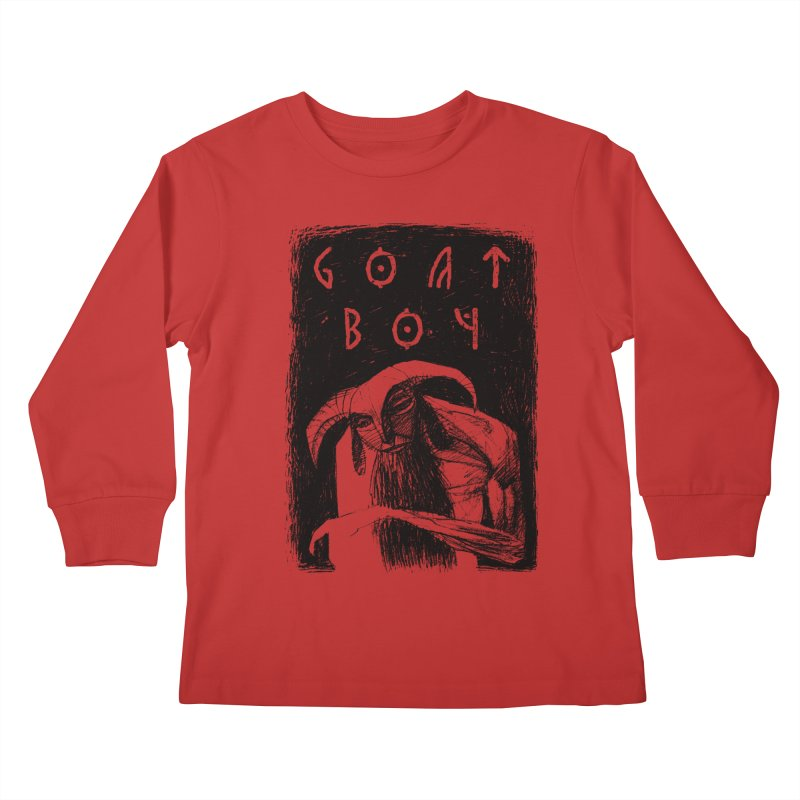 Goat Boy Kids Longsleeve T-Shirt by AnimalBro's Artist Shop