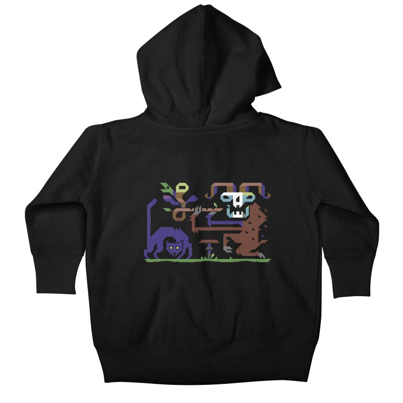 Satyr Kids Baby Zip-Up Hoody by AnimalBro's Artist Shop