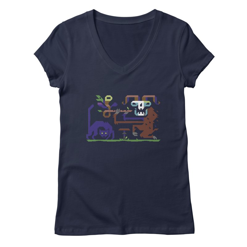 Satyr Women's Regular V-Neck by AnimalBro's Artist Shop