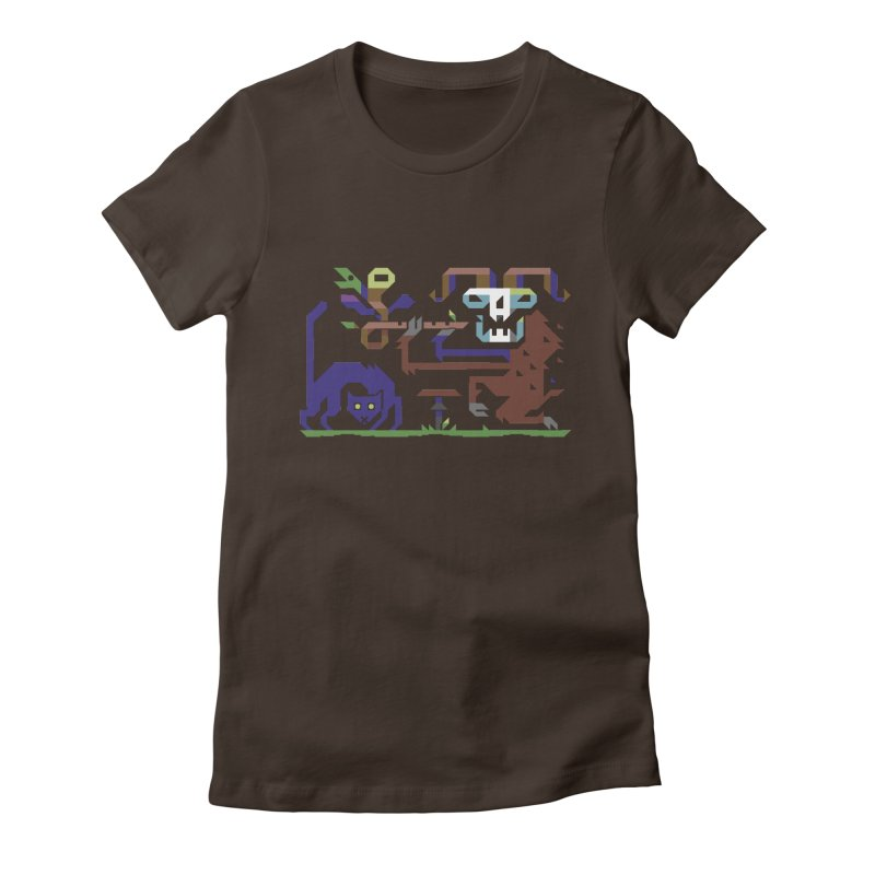 Satyr Women's Fitted T-Shirt by AnimalBro's Artist Shop