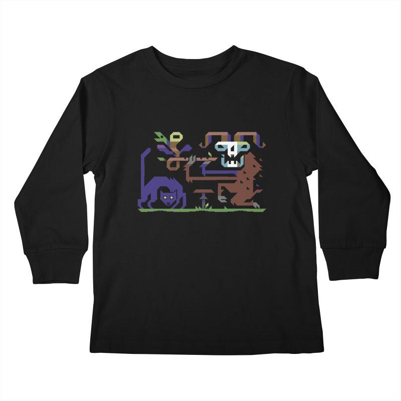 Satyr Kids Longsleeve T-Shirt by AnimalBro's Artist Shop