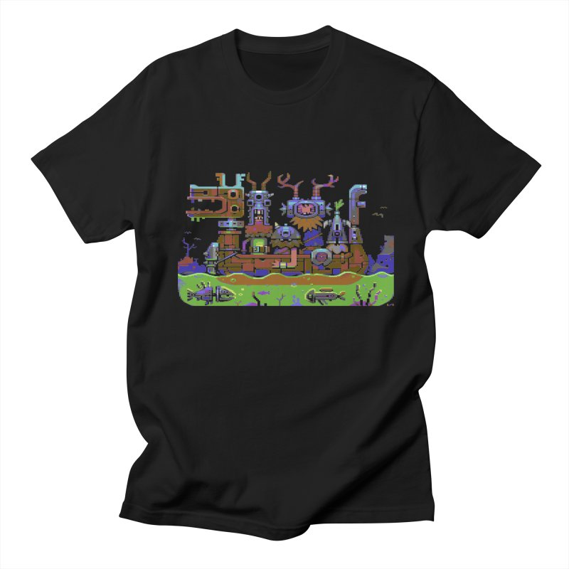 Technovikings in Men's T-Shirt Black by AnimalBro's Artist Shop
